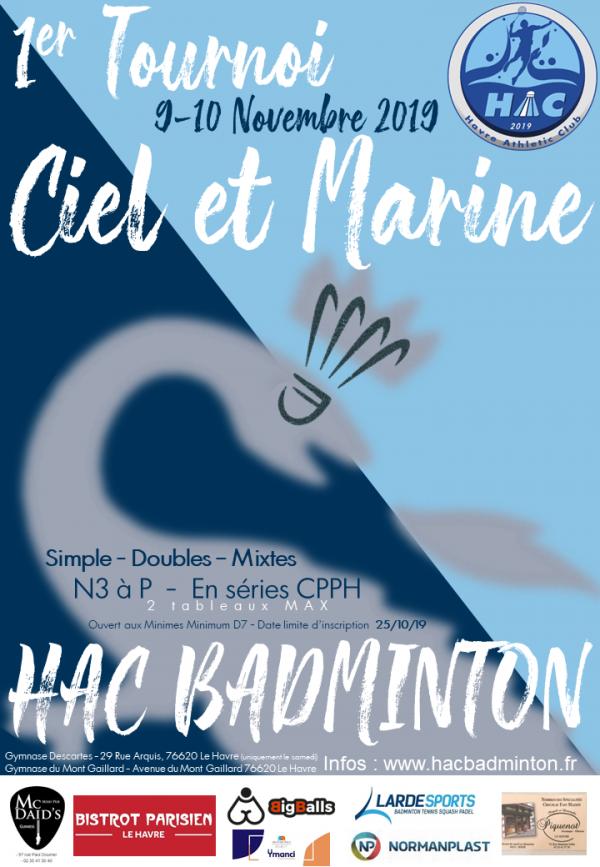 Calendrier Hac.1er Tournoi Ciel Et Marine Des 9 Et 10 Novembre 2019 Hac